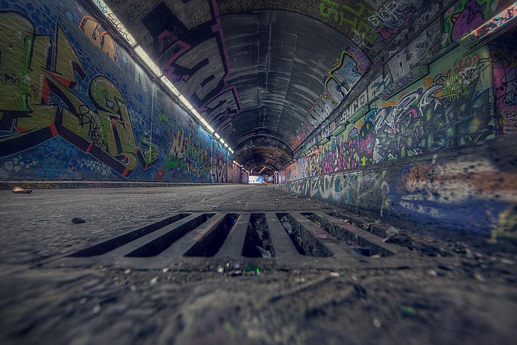 Grate Graffiti Tunnel