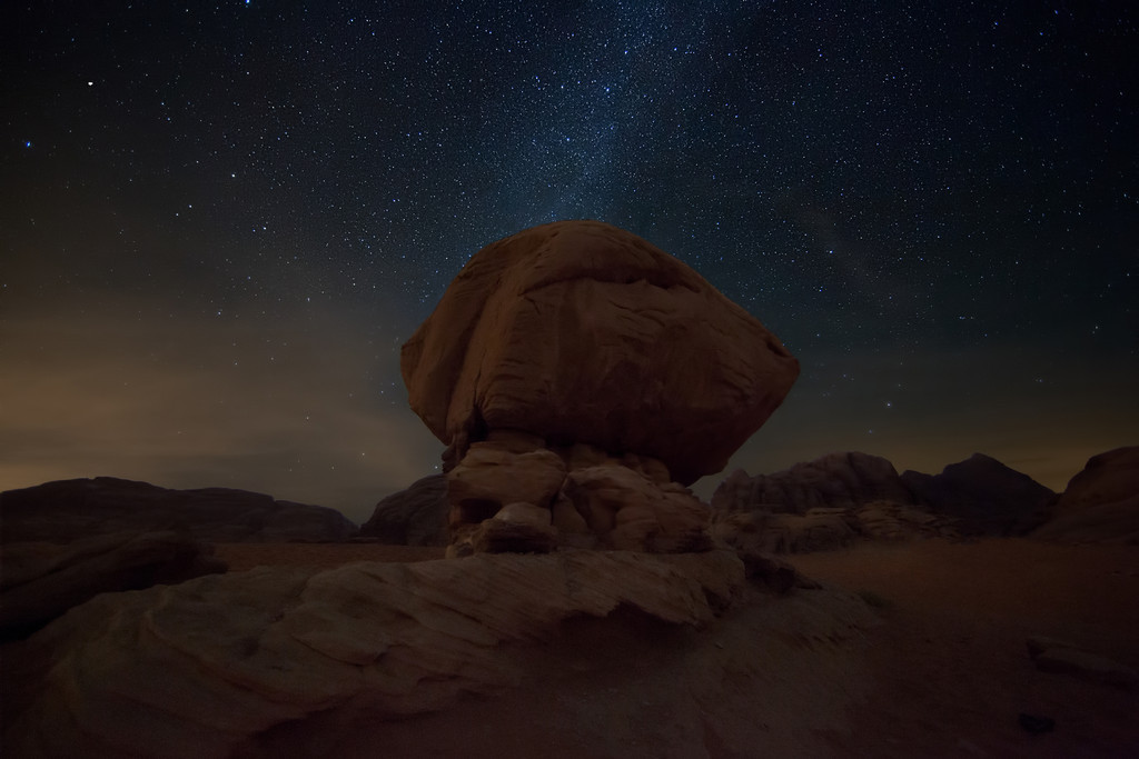 Milky Way over Mushroom Rock