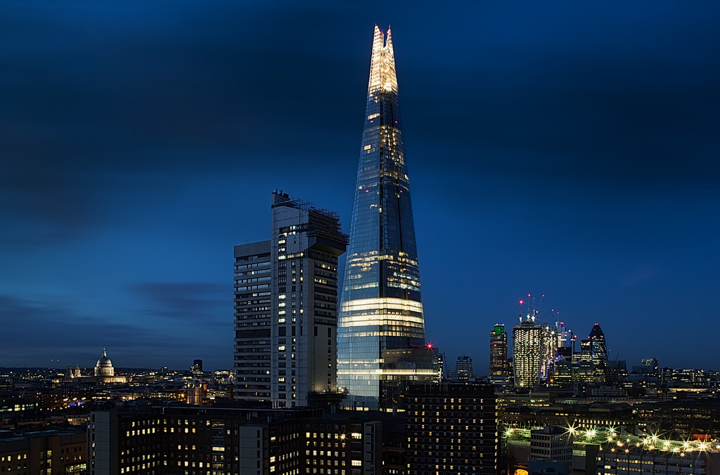 Blue hour tower