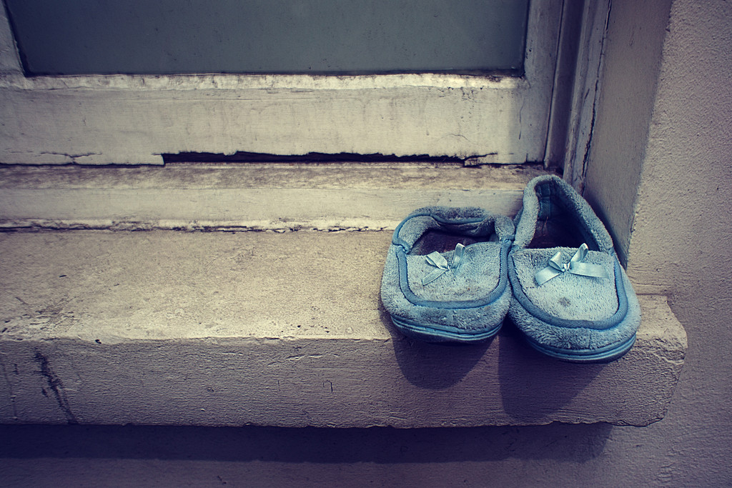Slippers in blue