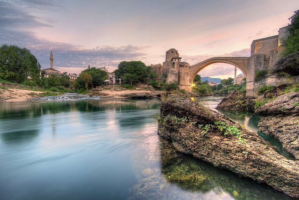 Stari Most sunrise