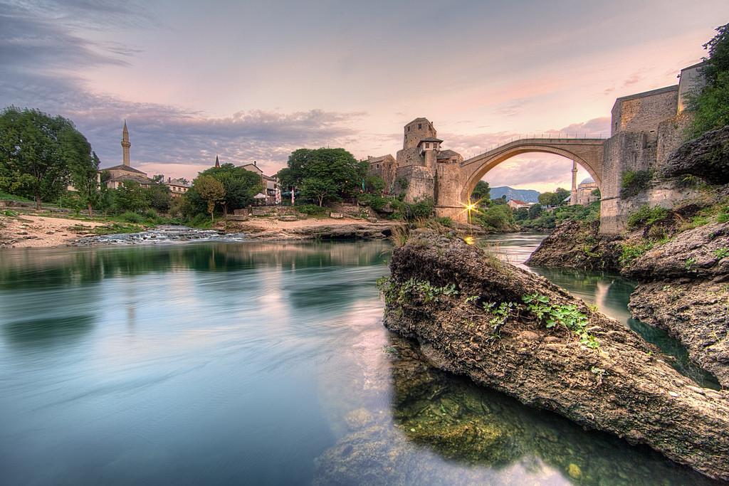 Stari Most sunrise