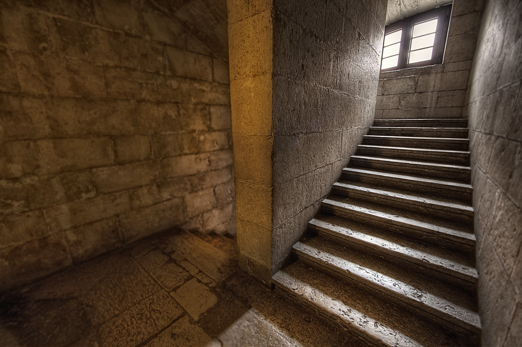 The narrow stairs