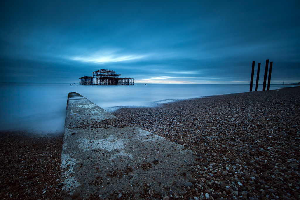Brighton in blue